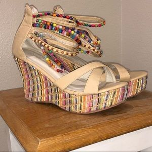 NWOT women's GORGEOUS wedge sandals